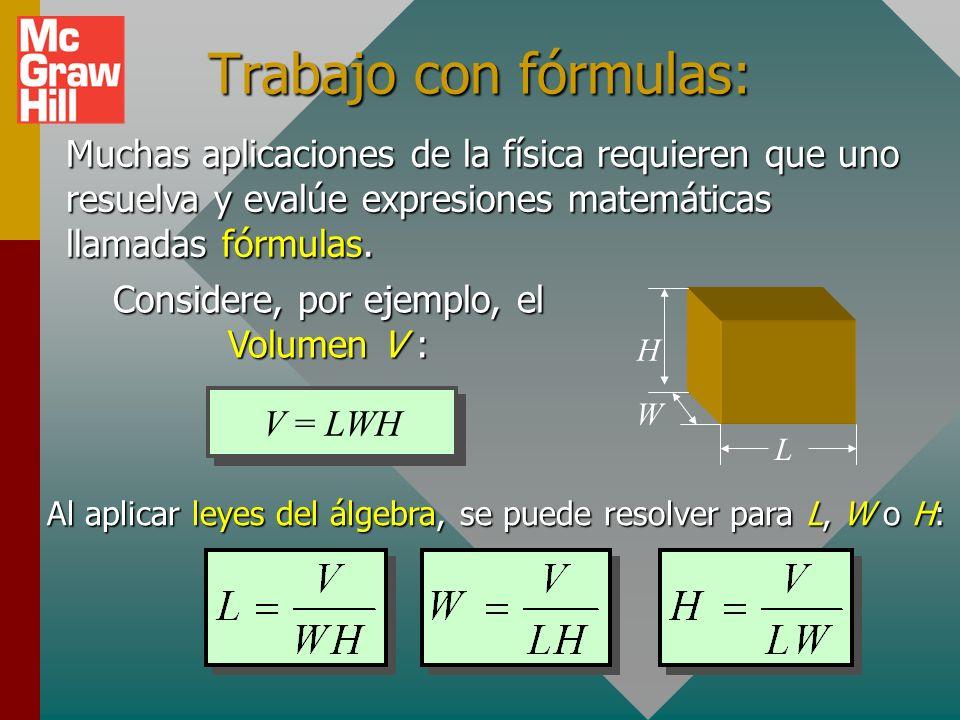 Ejemplo 3: Considere la siguiente fórmula y evalúe la expresión para x cuando a = -1, b = -2, c = 3, d = -4. x = -1 + 48 x = +47