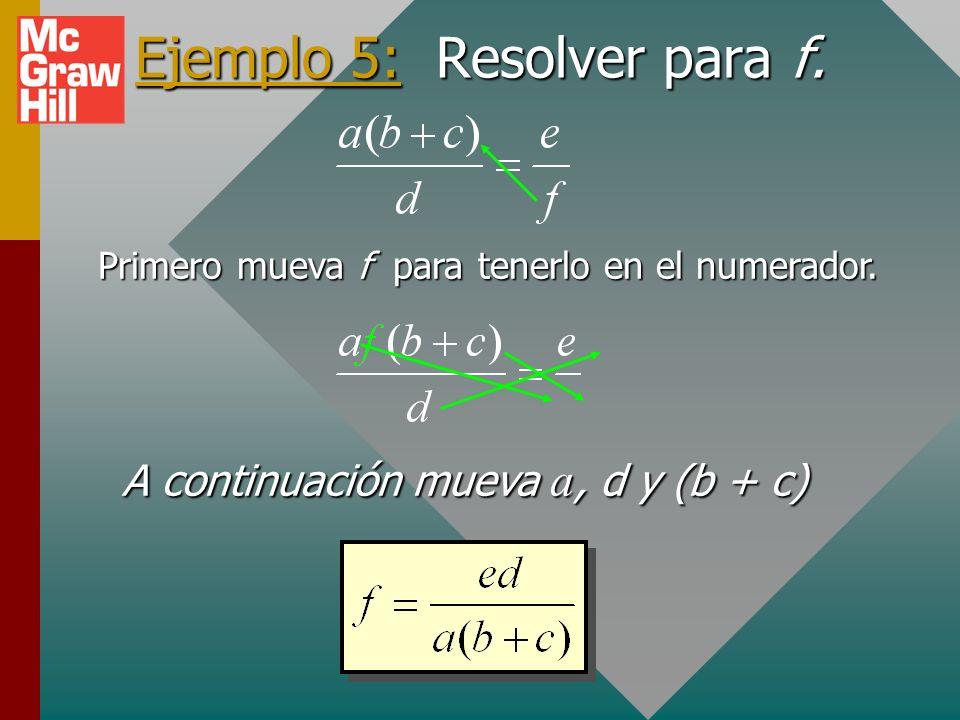 SEÑAL DE ADVERTENCIA PARA CRUCES ¡El método de cruces SÓLO funciona para FACTORES! La c no se puede mover a menos que se mueva todo el factor (b + c).