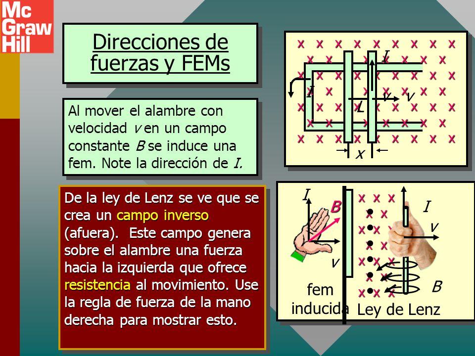 Ejemplo 3: Use la ley de Lenz para determinar la dirección de la corriente inducida a través de R si se cierra el interruptor del circuito siguiente (