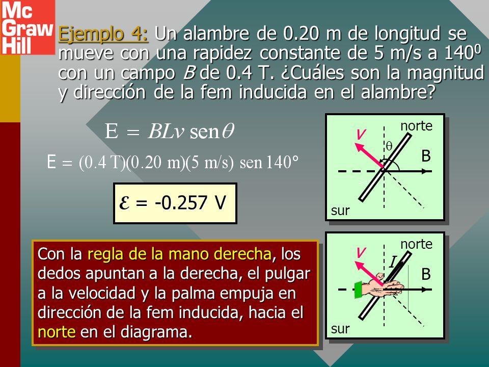 FEM de movimiento en un alambre L v I I x x x x x x x x x x x x x x x x x x x x x x x x B F v Fuerza F sobre la carga q en un alambre: F = qvB; Trabaj