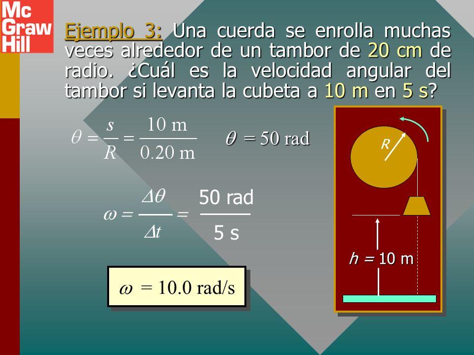 Velocidad angular La velocidad angular, es la tasa de cambio en el desplazamiento angular. (radianes por segundo) fFrecuencia angular f (rev/s). f Fre