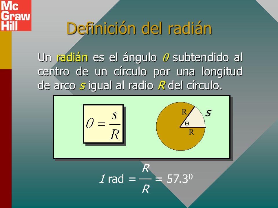 Desplazamiento rotacional, Desplazamiento rotacional, Considere un disco que rota de A a B: A B Desplazamiento angular : Medido en revoluciones, grado