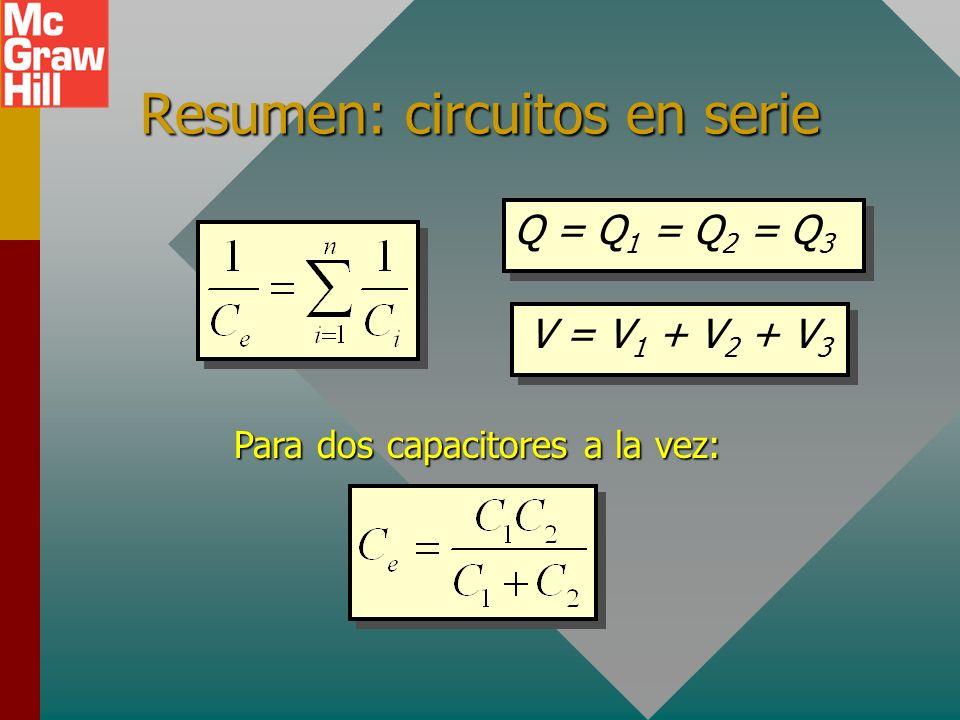 Ejemplo 3 (Cont.) Encuentre los voltajes a través de los capacitores de 3 y 6 F Ejemplo 3 (Cont.) Encuentre los voltajes a través de los capacitores d