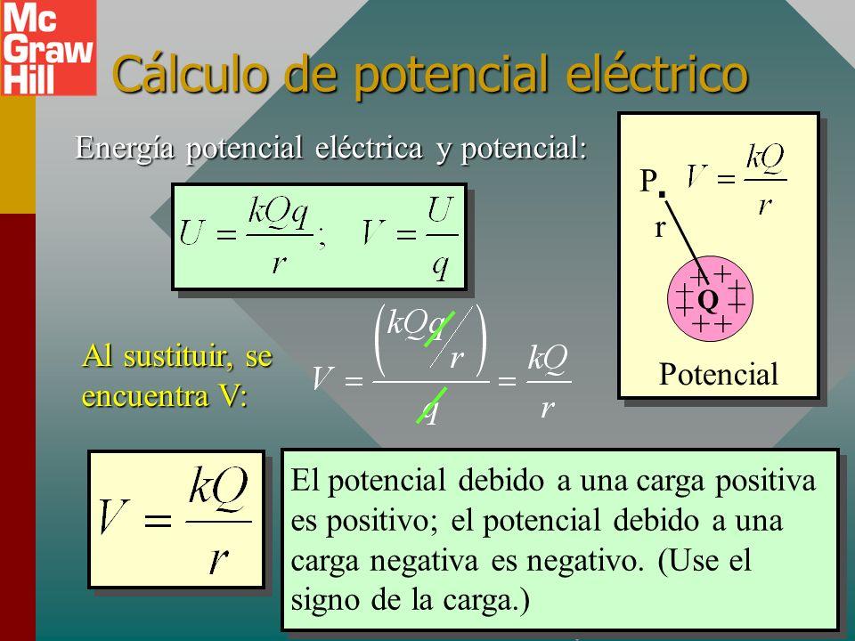 Unidad SI de potencial (volt) De la definición de potencial eléctrico como E.P. por unidad de carga, se ve que las unidades deben ser J/C. Esta unidad