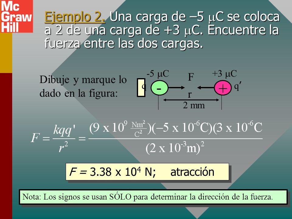 Cálculo de fuerza eléctrica La constante de proporcionalidad k para la ley de Coulomb depende de la elección de las unidades para carga. Cuando la car