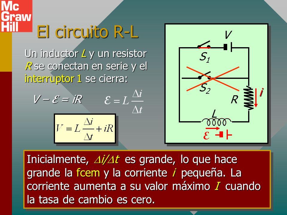 Ejemplo 4: La corriente estacionaria final en un solenoide de 40 vueltas y 20 cm de longitud es 5 A. ¿Cuál es la densidad de energía? R l A B = 1.26 m