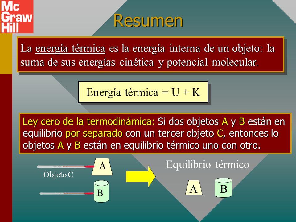 Ejemplo 3. (continuación) V desb = ¿? V0V0 V 20 0 C 80 0 C 200 cm 3 Glicerina: 5.1 x 10 -4 /C 0 Pyrex: = 3 0.3 x 10 -5 /C 0 ) = 0.9 x 10 -5 /C 0 V des