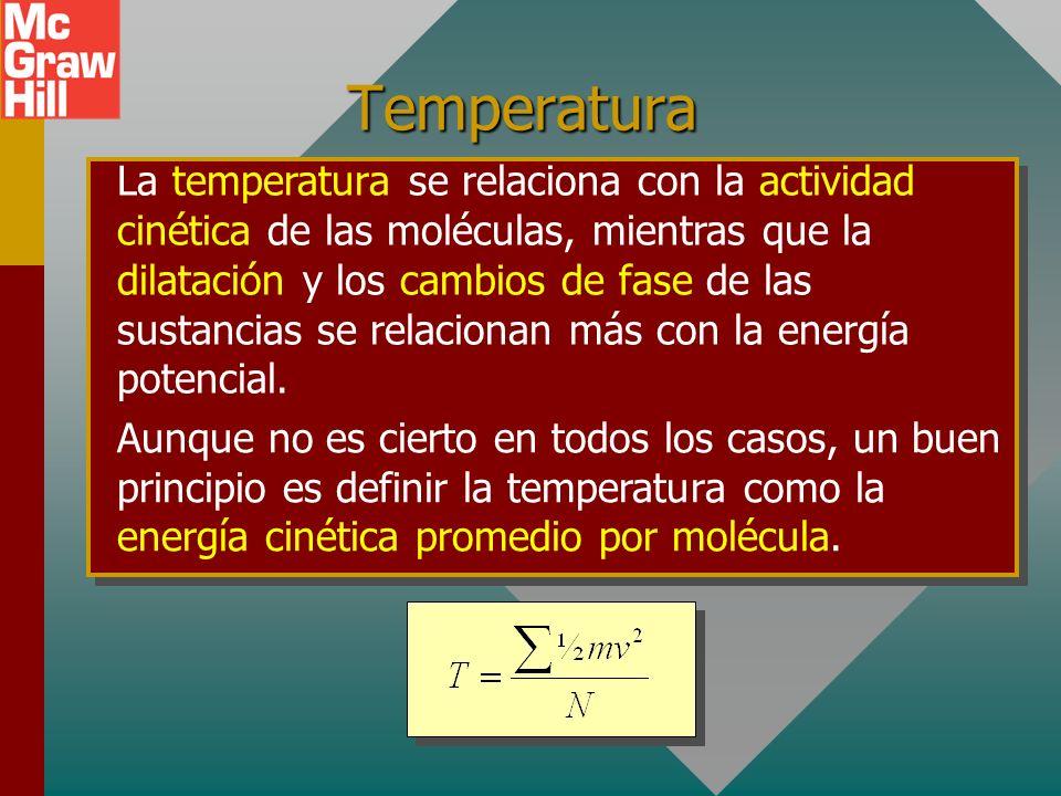 Energía térmica La energía térmica es la energía interna total de un objeto: la suma de sus energías cinética y potencial molecular. Energía térmica =