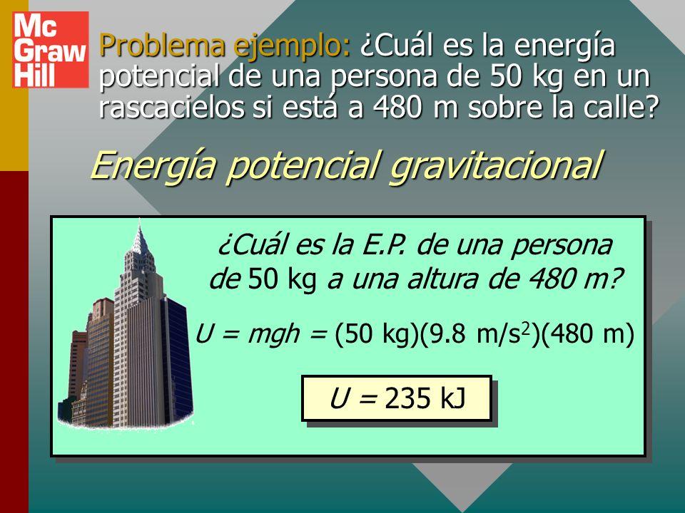 Energía potencial Energía potencial:Habilidad para efectuar trabajo en virtud de la posición o condición Energía potencial: Habilidad para efectuar tr