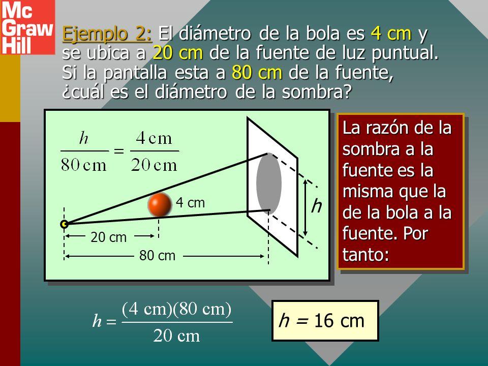 Rayos de luz y sombras Se puede hacer un análisis geométrico de las sombras al trazar rayos de luz desde una fuente de luz puntual: sombra pantalla Fu