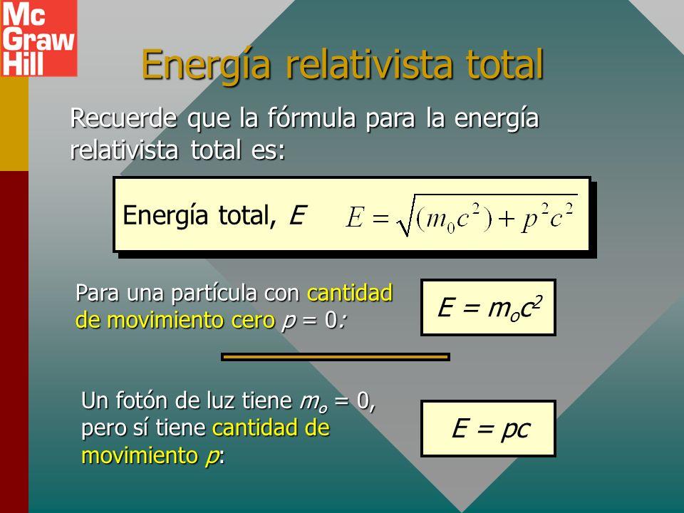 Ejemplo 4: La frecuencia umbral para una superficie dada es 1.09 x 10 15 Hz. ¿Cuál es el potencial de frenado para luz incidente cuya energía de fotón