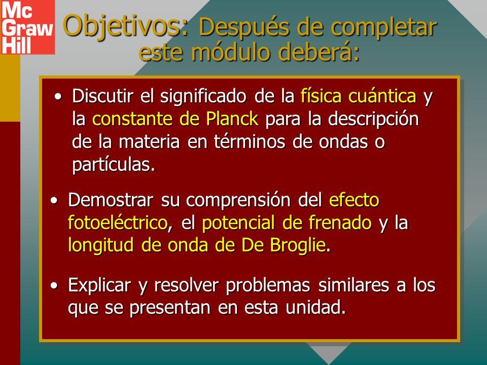 Capítulo 38B – Física cuántica Presentación PowerPoint de Paul E. Tippens, Profesor de Física Southern Polytechnic State University Presentación Power