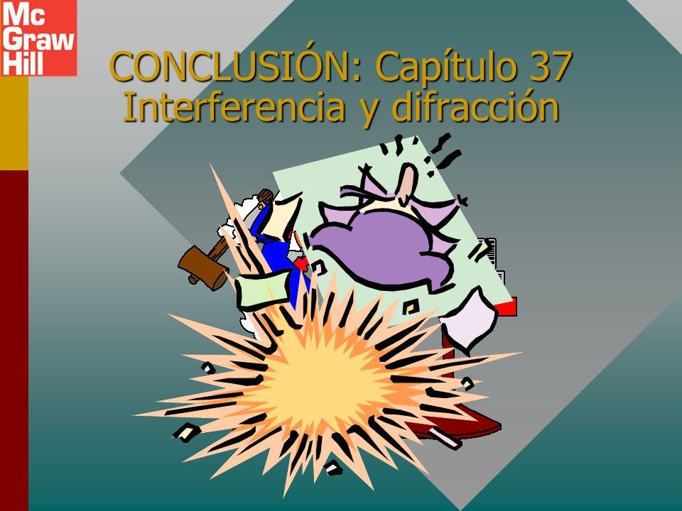 CONCLUSIÓN: Capítulo 37 Interferencia y difracción