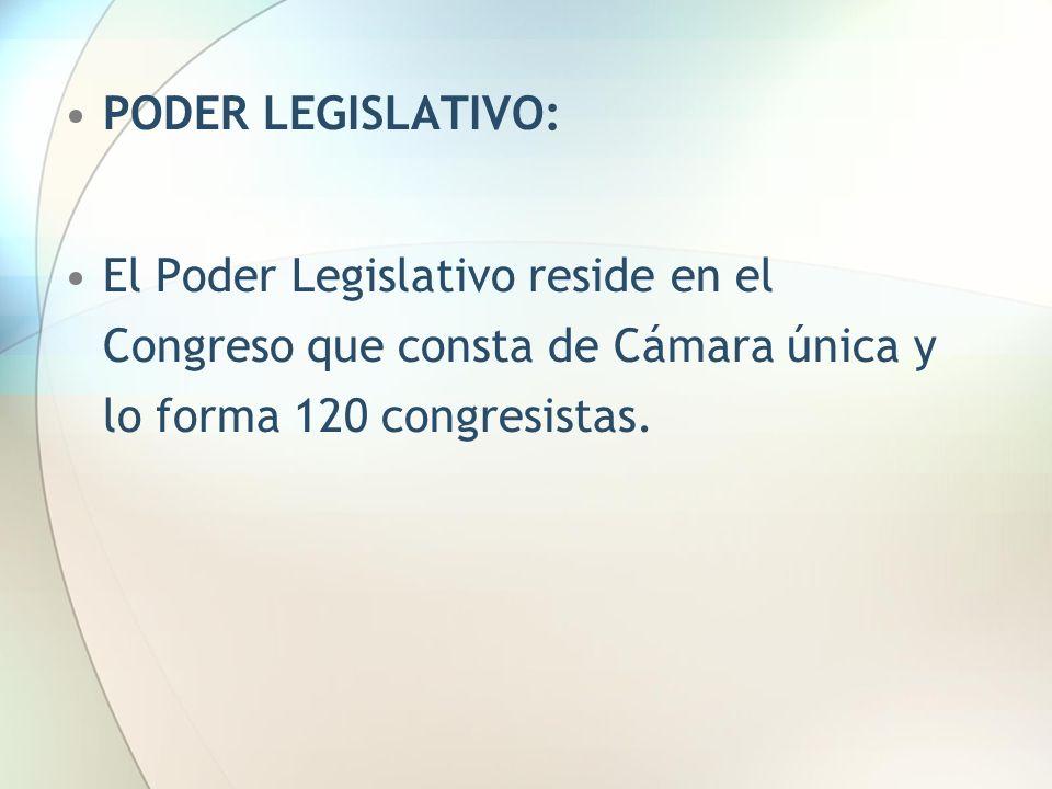 El Congreso se elige por un período de cinco años.