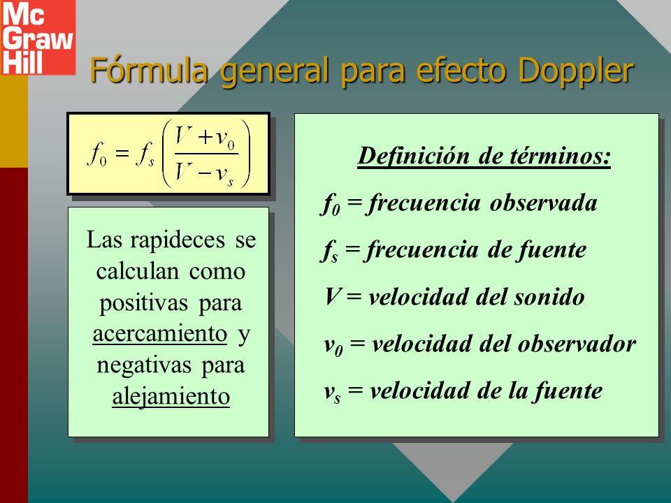 El efecto Doppler El efecto Doppler se refiere al aparente cambio en frecuencia de un sonido cuando hay movimiento relativo de la fuente y el escucha.