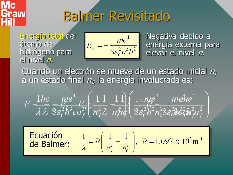 Energía para un estado particular Será útil simplificar la fórmula de energía para un estado particular mediante la sustitución de constantes. m = 9.1