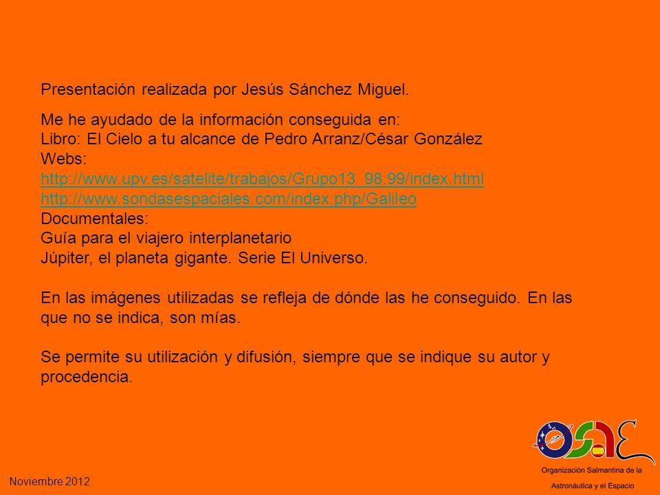 Presentación realizada por Jesús Sánchez Miguel.