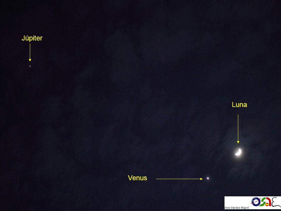 Luna Venus Júpiter