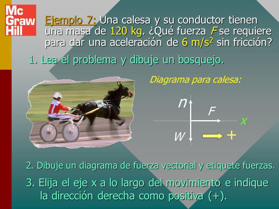 Aplicación de segunda ley de Newton Lea, dibuje y etiquete problema.Lea, dibuje y etiquete problema. Dibuje diagrama de cuerpo libre para cada cuerpo.