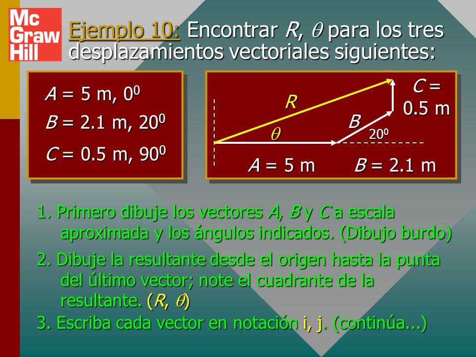 Dígitos significativos para ángulos 40 lb 30 lbR RyRy RxRx 40 lb 30 lb R RyRy RxRx = 36.9 o ; 323.1 o Puesto que una décima de grado con frecuencia pu