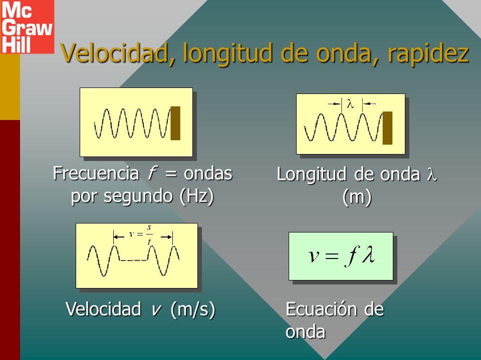 Producción de una onda longitudinal Un péndulo en oscilación produce condensaciones y rarefacciones que viajan por el resorte.Un péndulo en oscilación