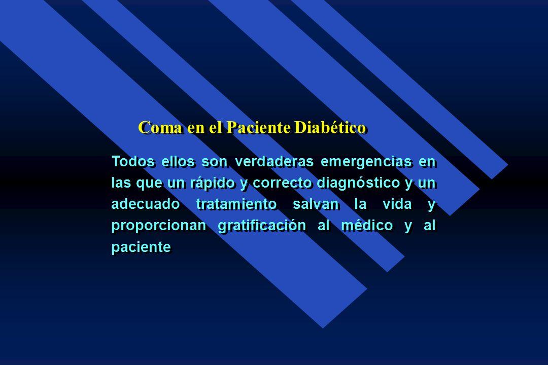 Complicaciones Agudas de la Diabetes Mellitus Las complicaciones agudas (descompensaciones) de la diabetes mellitus son situaciones que amena- zan la