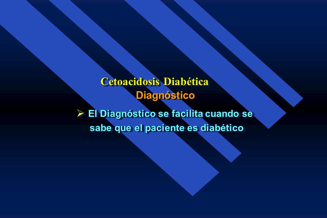Cetonemia Leve Moderada Severa Sin Diluir + + + + Dilución 1:2 + + + + + + + Dilución 1:4 Negativa + + + Cetoacidosis Diabética Severidad por el grado
