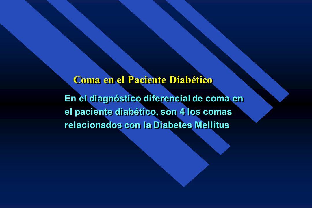 En relación con la Diabetes el término Coma, es mal usado y se refiere a cualquier trastorno de la conciencia variando de apatía, confusión, somnolenc