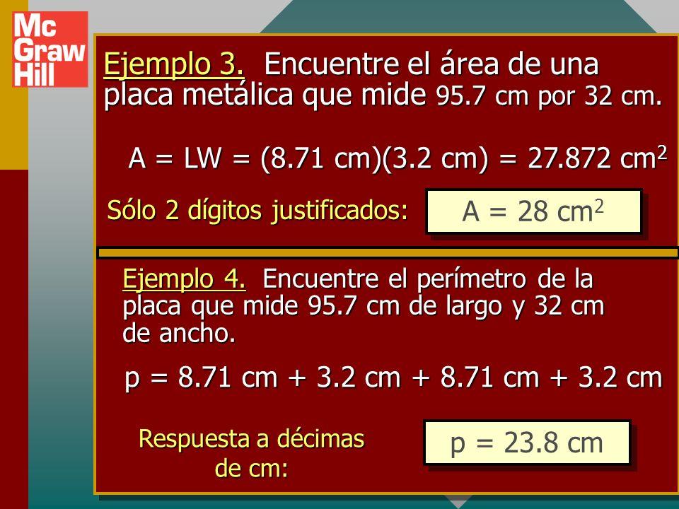 Regla 2. Cuando se suman o restan números aproximados, el número de dígitos significativos será igual al número más pequeño de lugares decimales de cu