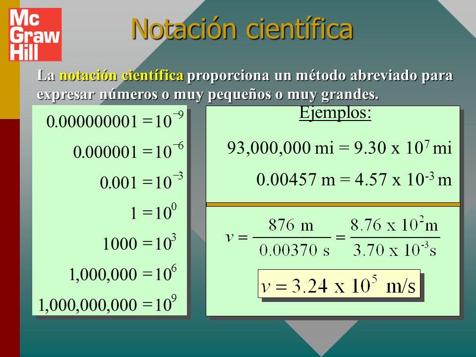 Ejemplo para laboratorio (cont.): Encuentre el perímetro de la hoja metálica que mide L = 233.3 mm y A = 9.3 mm. (Regla de la suma) p = 233.3 mm + 9.3