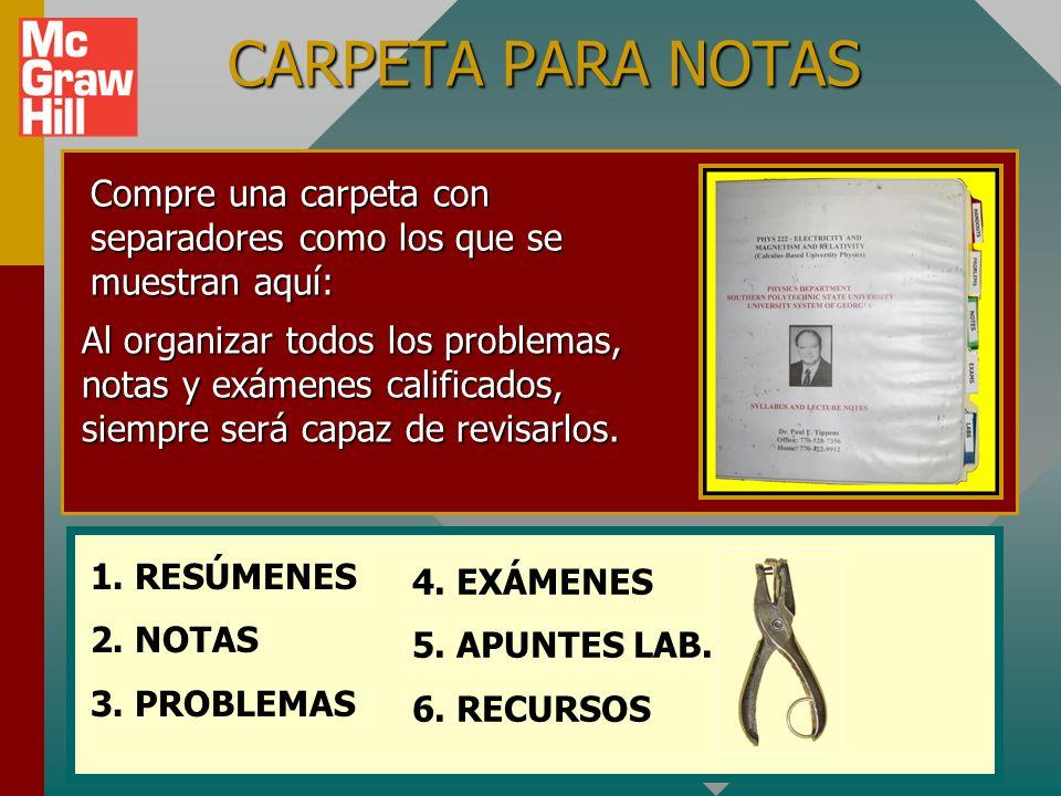 Organización Recopile materiales: Libro de textoLibro de texto Carpeta para notasCarpeta para notas CD de tutorialesCD de tutoriales Calculadora cient