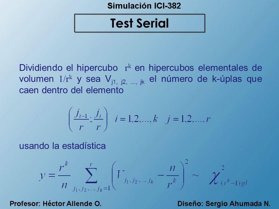 Dividiendo el hipercubo r k en hipercubos elementales de volumen 1/r k y sea V j1, j2,..., jk el número de k-úplas que caen dentro del elemento usando