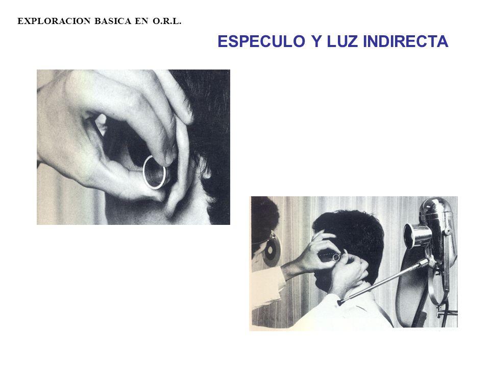 EXPLORACION BASICA EN O.R.L. ESPECULO Y LUZ INDIRECTA