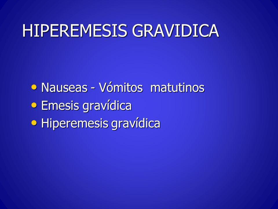 EMESIS GRAVIDICA -Etiologia Tejido corial – HCG Tejido corial – HCG Otros elementos hormonales Otros elementos hormonales Estrógenos Estrógenos Insuficiencia suprarenal .