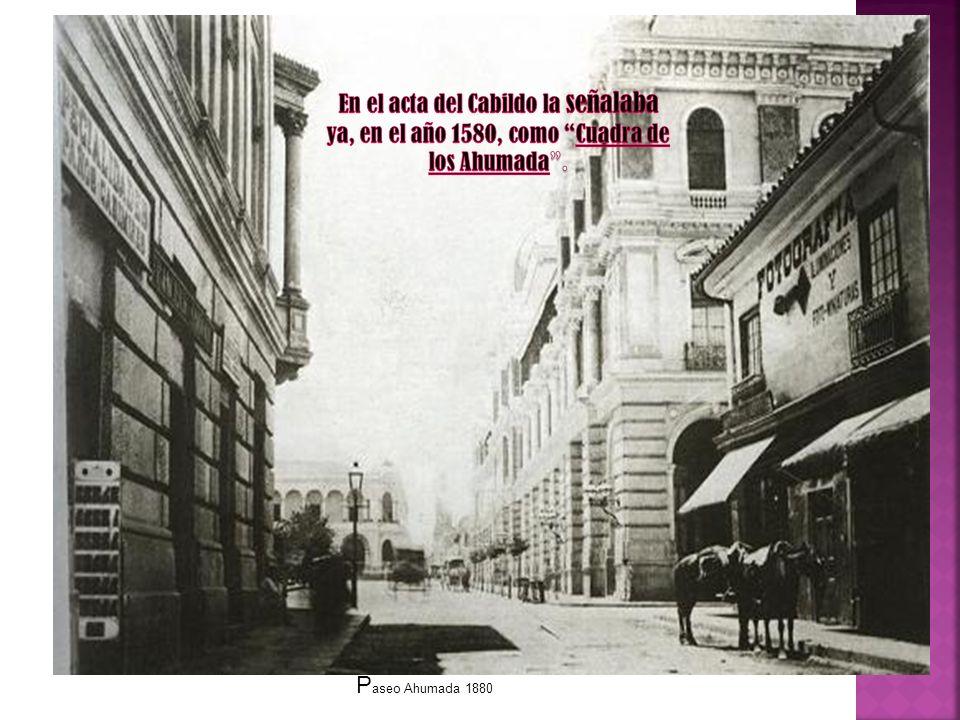 P aseo Ahumada 1880