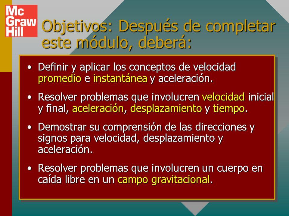 Misma estrategia de resolución de problemas, excepto a = g: Dibuje y etiquete bosquejo del problema.