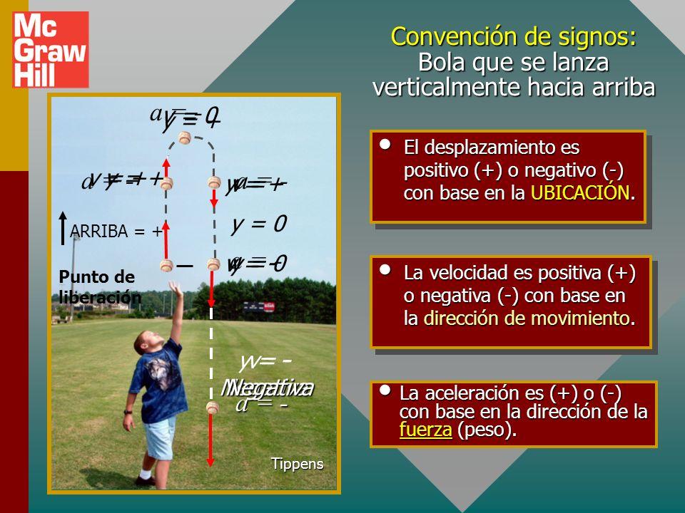 Determinación experimental de la gravedad (y 0 = 0; y = -1.20 m) y t y = -1.20 m; t = 0.495 s Aceleración de la gravedad: La aceleración a es negativa