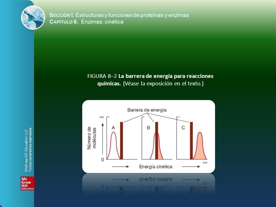 FIGURA 8–2 La barrera de energía para reacciones químicas. (Véase la exposición en el texto.) S ECCIÓN I. Estructuras y funciones de proteínas y enzim