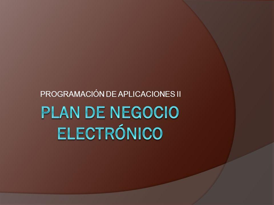 PROGRAMACIÓN DE APLICACIONES II