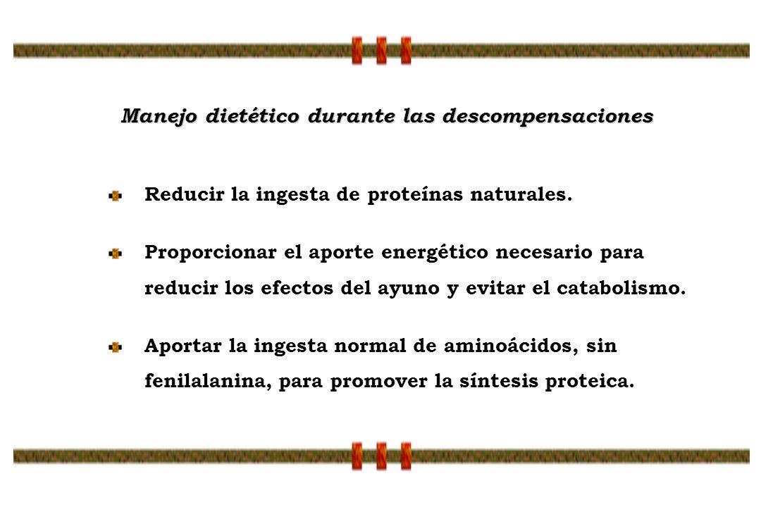 Reducir la ingesta de proteínas naturales. Proporcionar el aporte energético necesario para reducir los efectos del ayuno y evitar el catabolismo. Apo