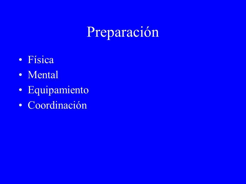 Preparación Física Mental Equipamiento Coordinación