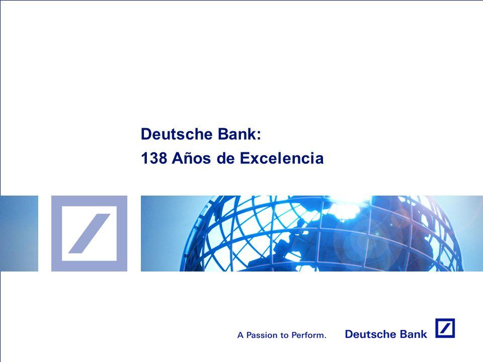 Deutsche Bank: 138 Años de Excelencia