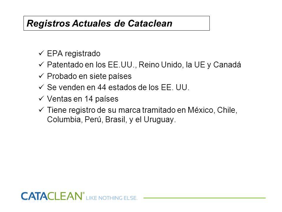 EPA registrado Patentado en los EE.UU., Reino Unido, la UE y Canadá Probado en siete países Se venden en 44 estados de los EE. UU. Ventas en 14 países