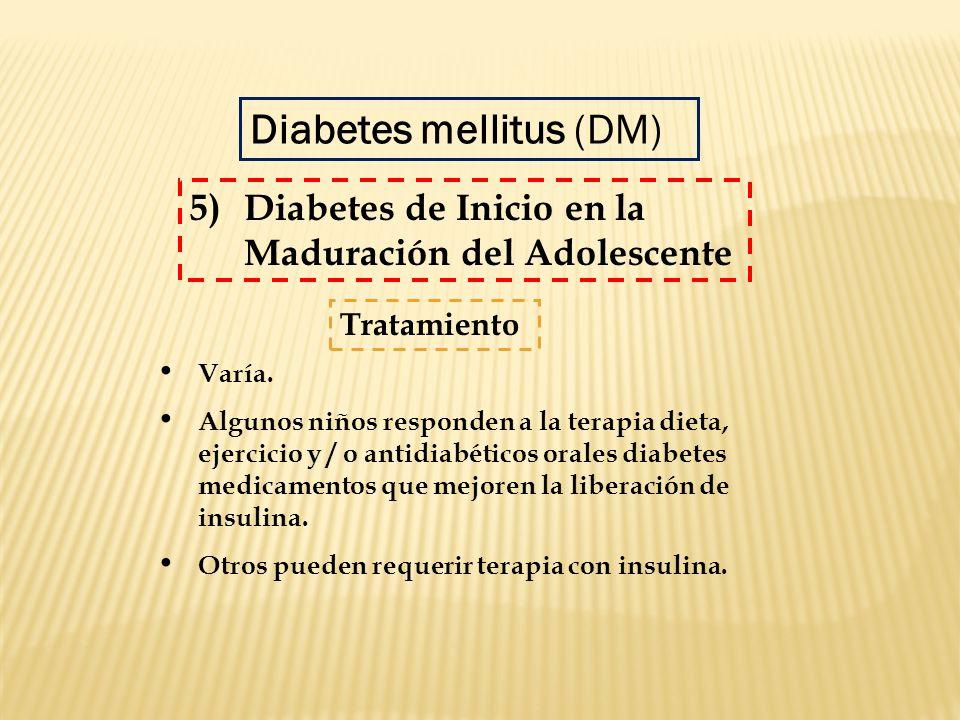 Varía. Algunos niños responden a la terapia dieta, ejercicio y / o antidiabéticos orales diabetes medicamentos que mejoren la liberación de insulina.