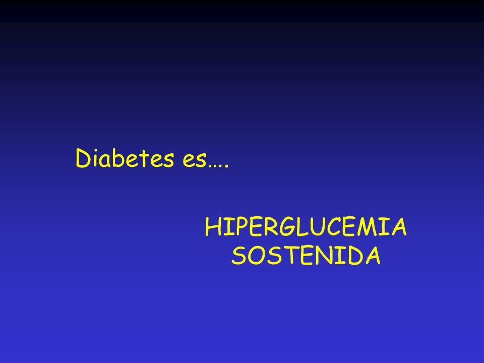 Diabetes es…. HIPERGLUCEMIA SOSTENIDA