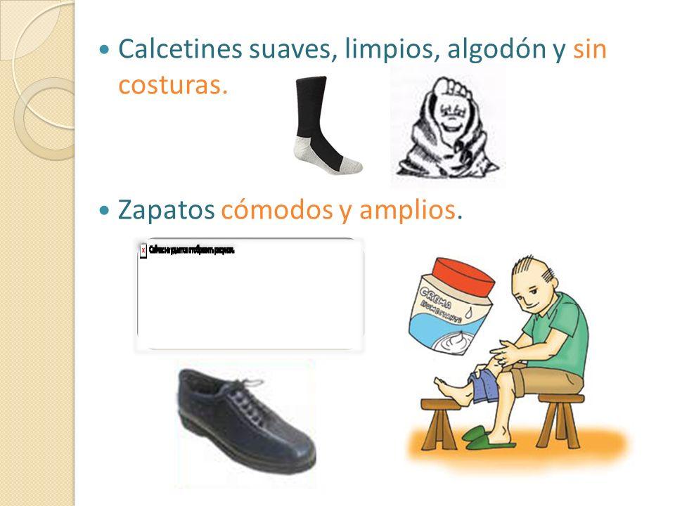 Calcetines suaves, limpios, algodón y sin costuras. Zapatos cómodos y amplios.