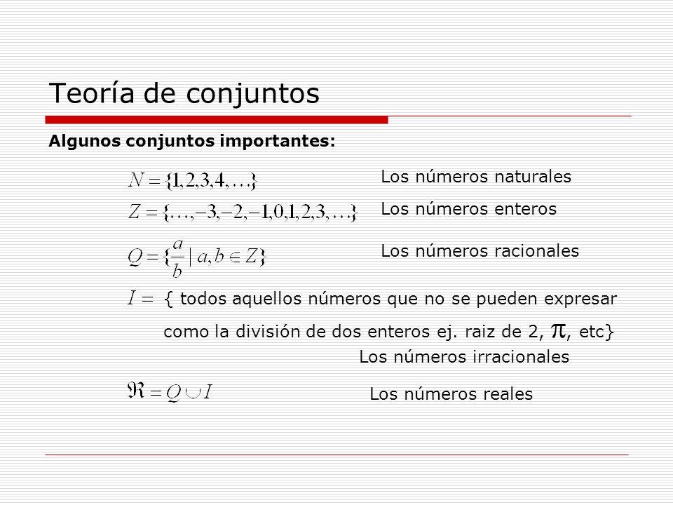 Teoría de conjuntos Def.
