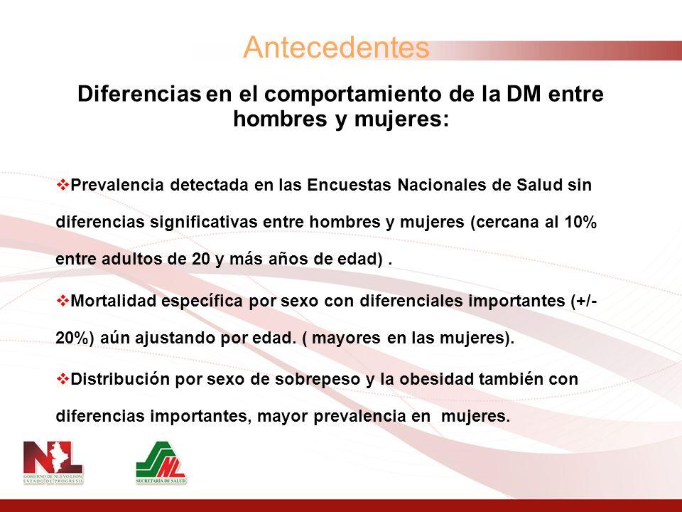 Desde 2003 en la Secretaría de Salud de México se han realizado esfuerzos para lograr la desagregación por sexo de todos los registros estadísticos de salud.