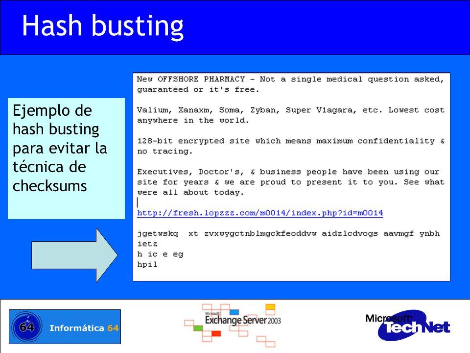 Ejemplo de hash busting para evitar la técnica de checksums Hash busting