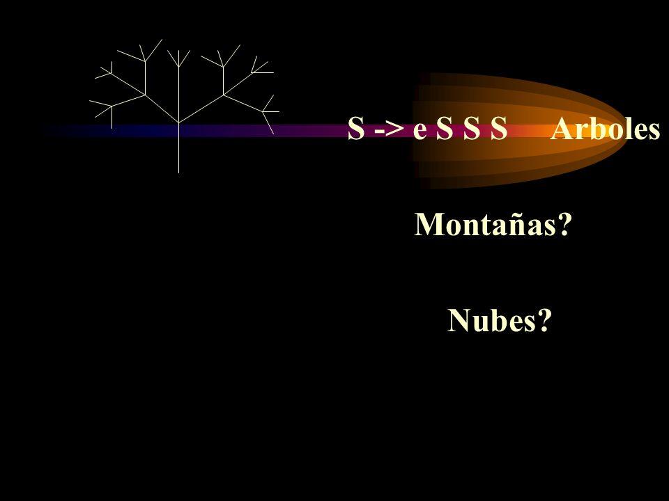 S -> e S S S Arboles Montañas? Nubes?